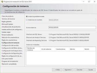 Instalación de SQL Server 2014, Configuración del servidor.