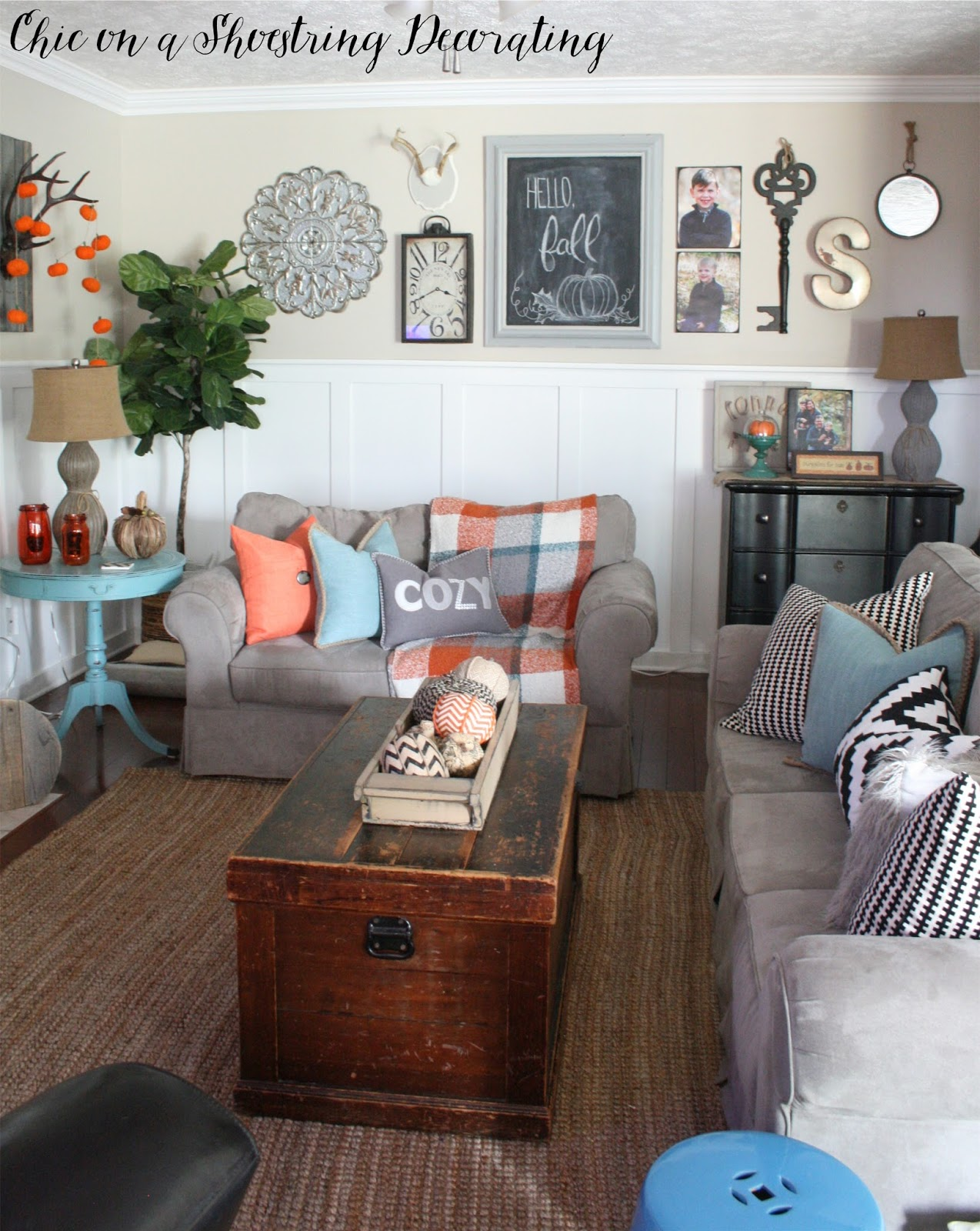 Genial Fall Farmhouse Decor Gallery Wall Chic On A Shoestring Decorating Blog
