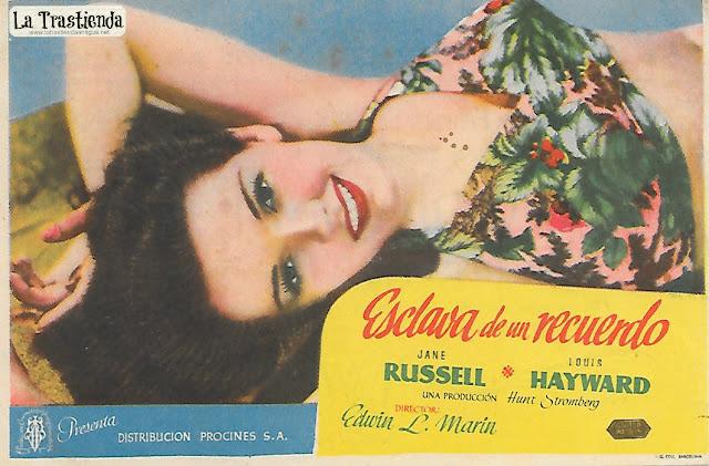 Esclava de un Recuerdo - Programa de Cine - Jane Russell - Louis Hayward