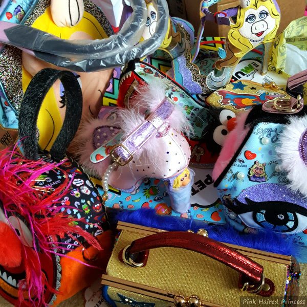 selection of various shoes and handbags from the Irregular Choice Disney Muppets