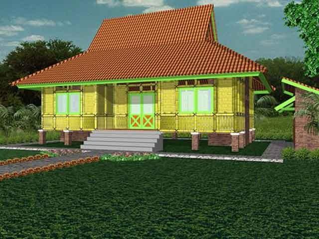 model rumah dari bambu 5