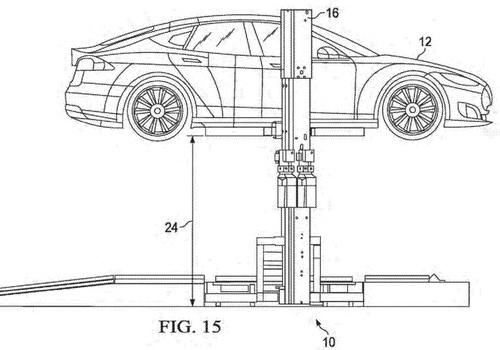 Tinuku.com Tesla files patent for rapid battery swap technology