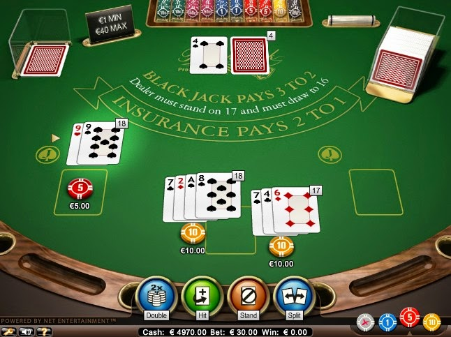 Bet-at-home Blackjack Screen