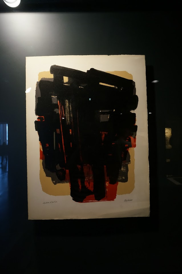 lithographie 8 1958 Pierre Soulages