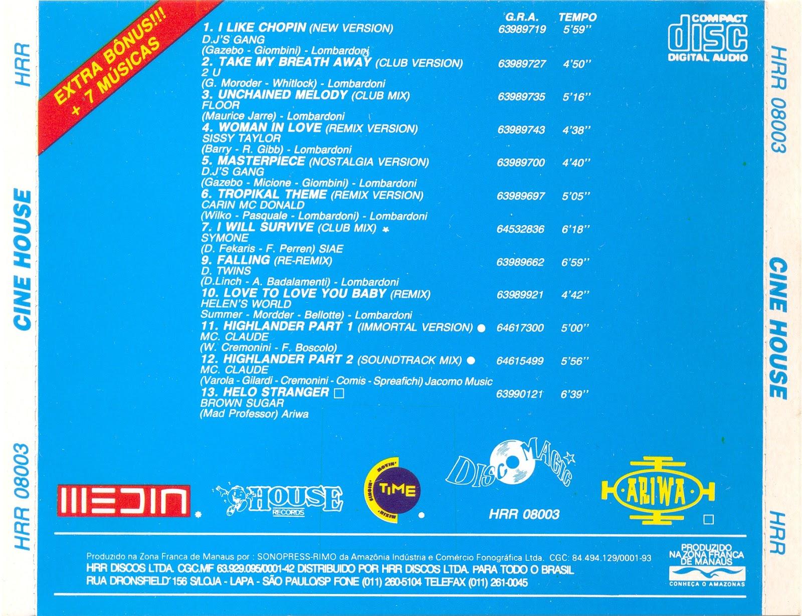 Seja bem vindo cine house cda 1993 for House music 1993