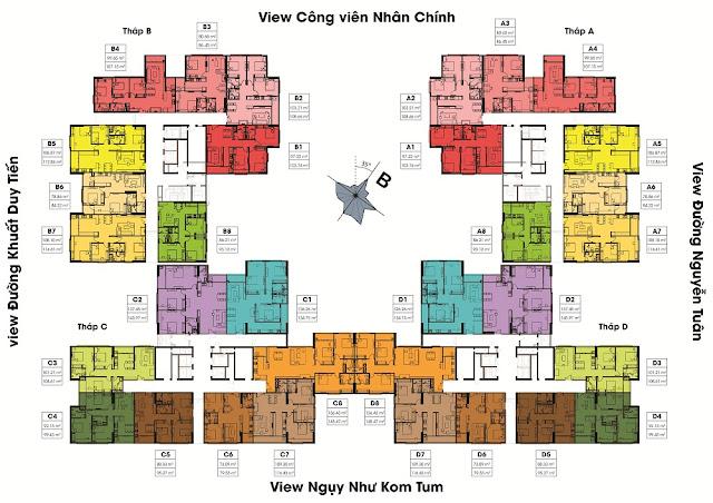 Mặt bằng tổng thể và bố trí các tòa tháp của Việt Đức Complex