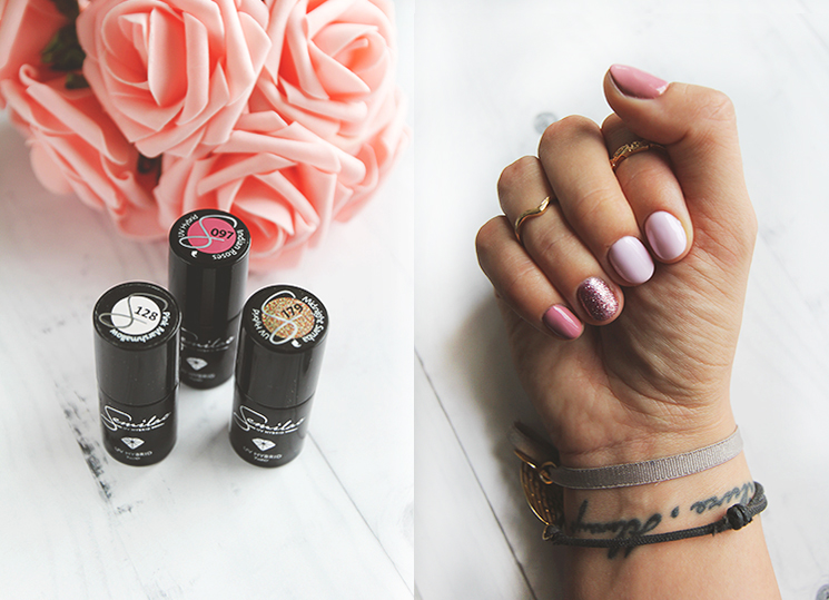PINKY MANI⬧SEMILAC 097 INDIAN ROSES, 128 PINK MARSHMALLOW, 179 MIDNIGHT SAMBA
