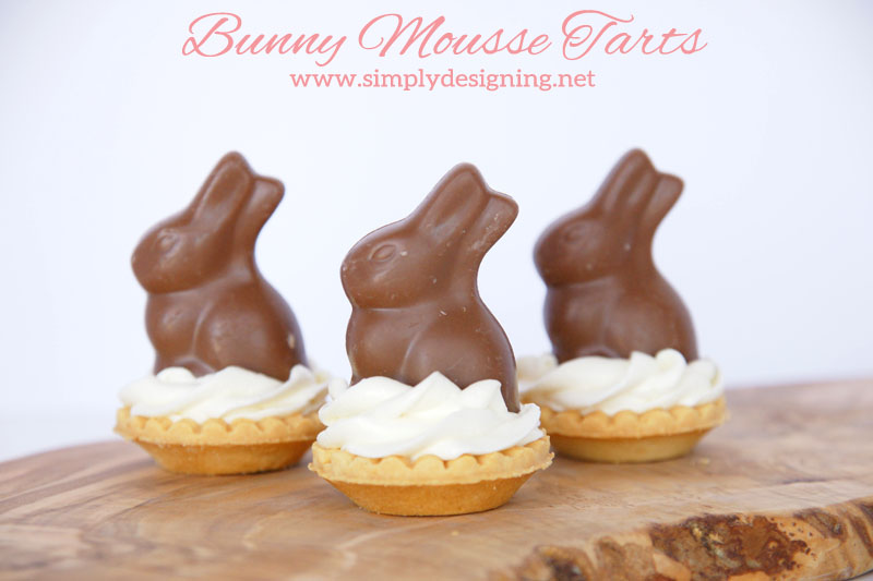 Mousse Tarts | These are so simple to make but taste incredible!  Perfect for an Easter or Spring time Dessert!  | #easter #bunny #recipe #easterrecipe