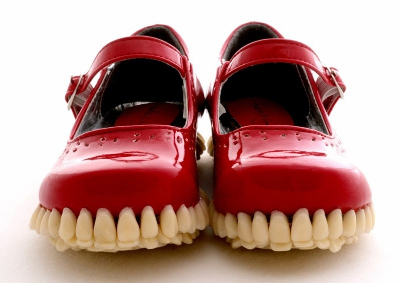 Super Creepy Sculpture | Implants Teeth into the Shoe Sole
