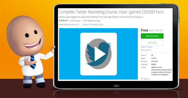 [100% Off] Complete Twitter Marketing Course: How I gained 230,000 Fans| Worth 145$