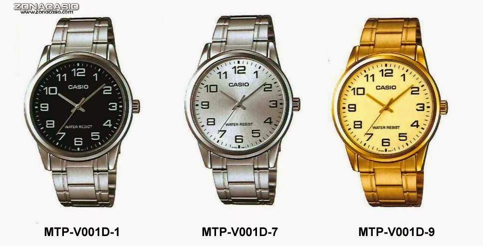 7669b605a0d5 Zona Casio  Adelanto  nuevos MTP-V001 y MTP-V002