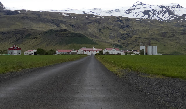 Eyjafjallajökull volcano is visible on an Iceland South Coast road trip