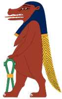 Tawaret ancient Egypt gods and goddesses cheatsheet