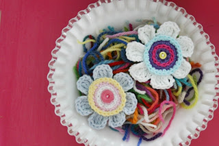 Olivia's Flower Crochet Pattern by Susan Carlson of Felted Button