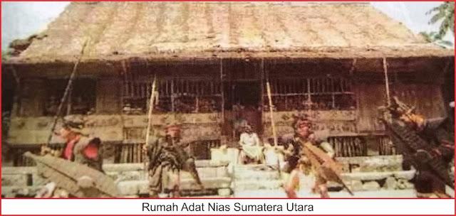 gambar rumah adat nias sumatera utara
