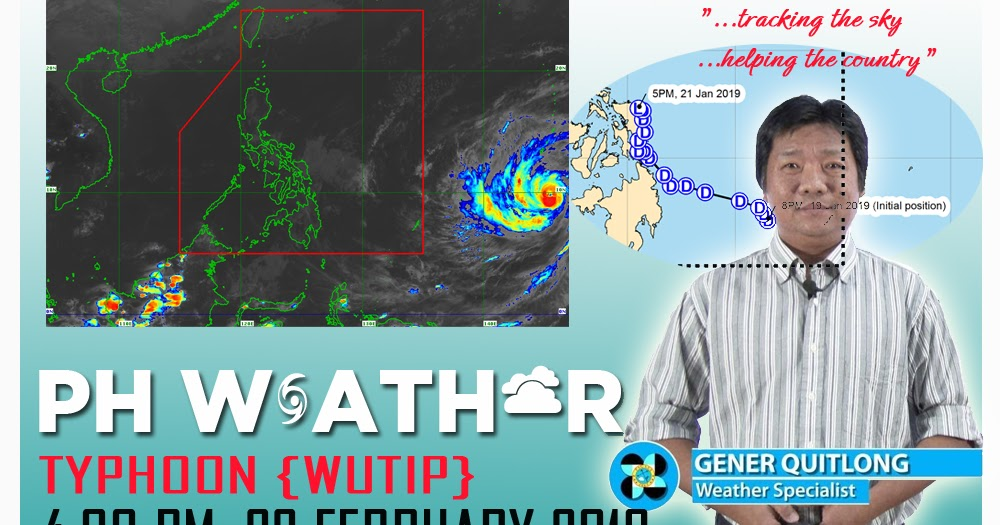 Philippine weather update for Typhoon {WUTIP} as of 4:00 PM 22 February 2019 - PAGASA - PH Trending