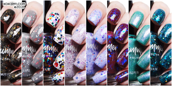 xoxoJen's collage of kbshimmer Throwback Collection
