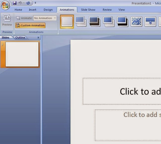 Cara Menampilkan Constum Animation Ms.Office Power Point