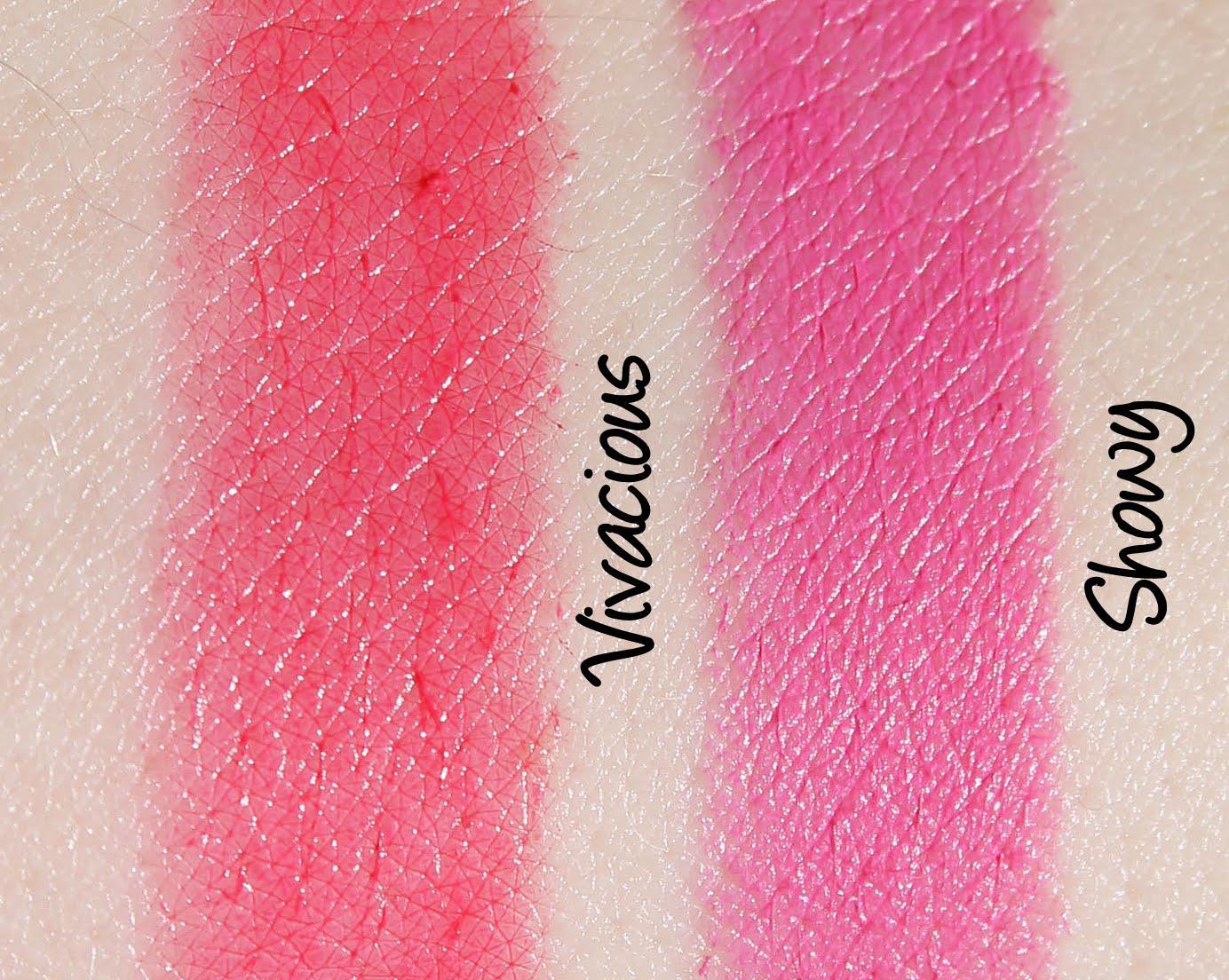 Revlon Colorburst Lacquer Balm - Vivacious/Colorburst Matte Balm - Showy Swatches & Review