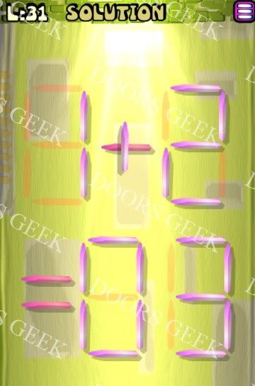 Matches puzzle episode 12 level 31 solution doors geek for 16 door puzzle solution