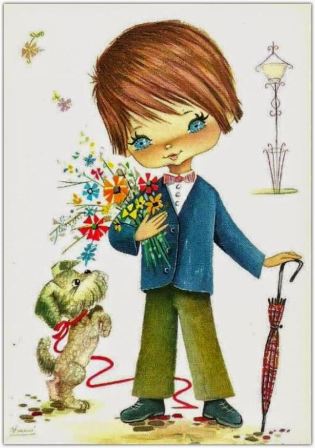 С мальчиком открытка