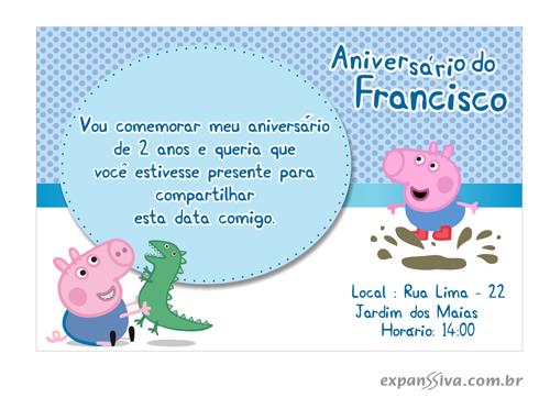 convite de aniversario peppa pig 5 - Convite de Aniversário Infantil Peppa Pig