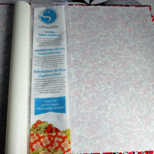 Silhouette Clean Cut Fusible Fabric Stabiliser.  Tutorial for No Sew Fabric Applique with HTV Edging from Silhouette UK Blog