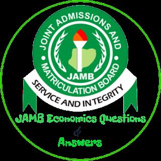 JAMB Economics Questions 2018
