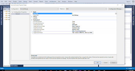 SSRS Tips: Creating 2012/2014 BI Templates Using VS 2015