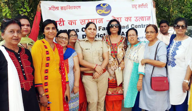 Lions Club Faridabad Central planted 100 plants in the women's police station sector -16/A premises