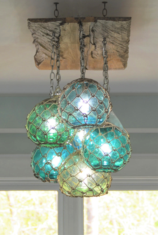 Fishing Glass Float Chandelier