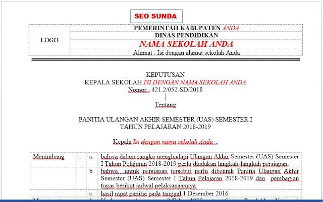 Contoh SK Panitia Dan Jadwal UAS / PAS Semester Ganjil , https://riviewfile.blogspot.com