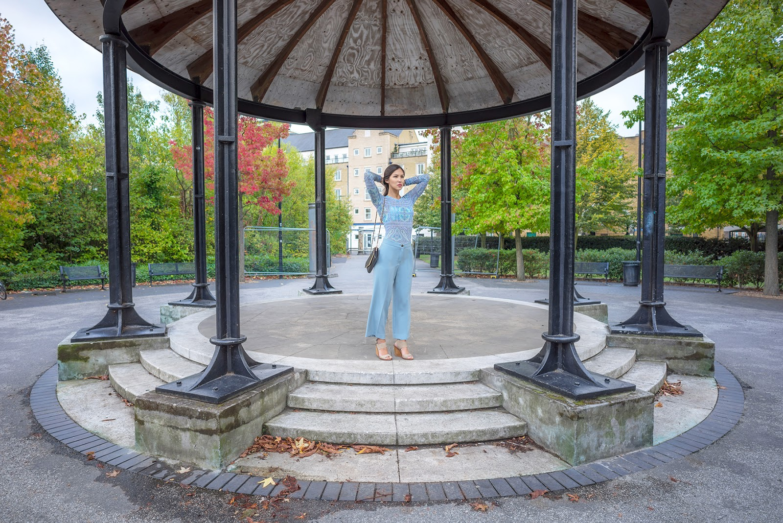 Euriental | luxury travel & style | BCBG paisley top and blue trousers