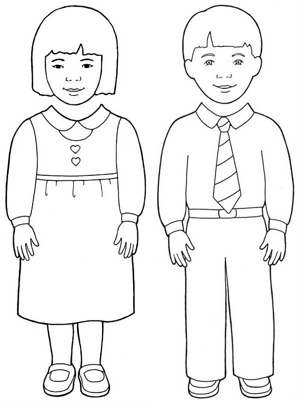 Boy girl coloring pages ~ Fortify The Children: Lesson 14: I WILL OBEY