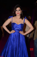 Mannara Chopra in Deep Neck Blue Gown at Zee Telugu Apsara Awards ~  Exclusive 028.jpg