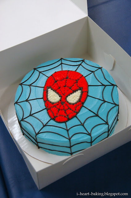 I Heart Baking Spiderman Birthday Cake