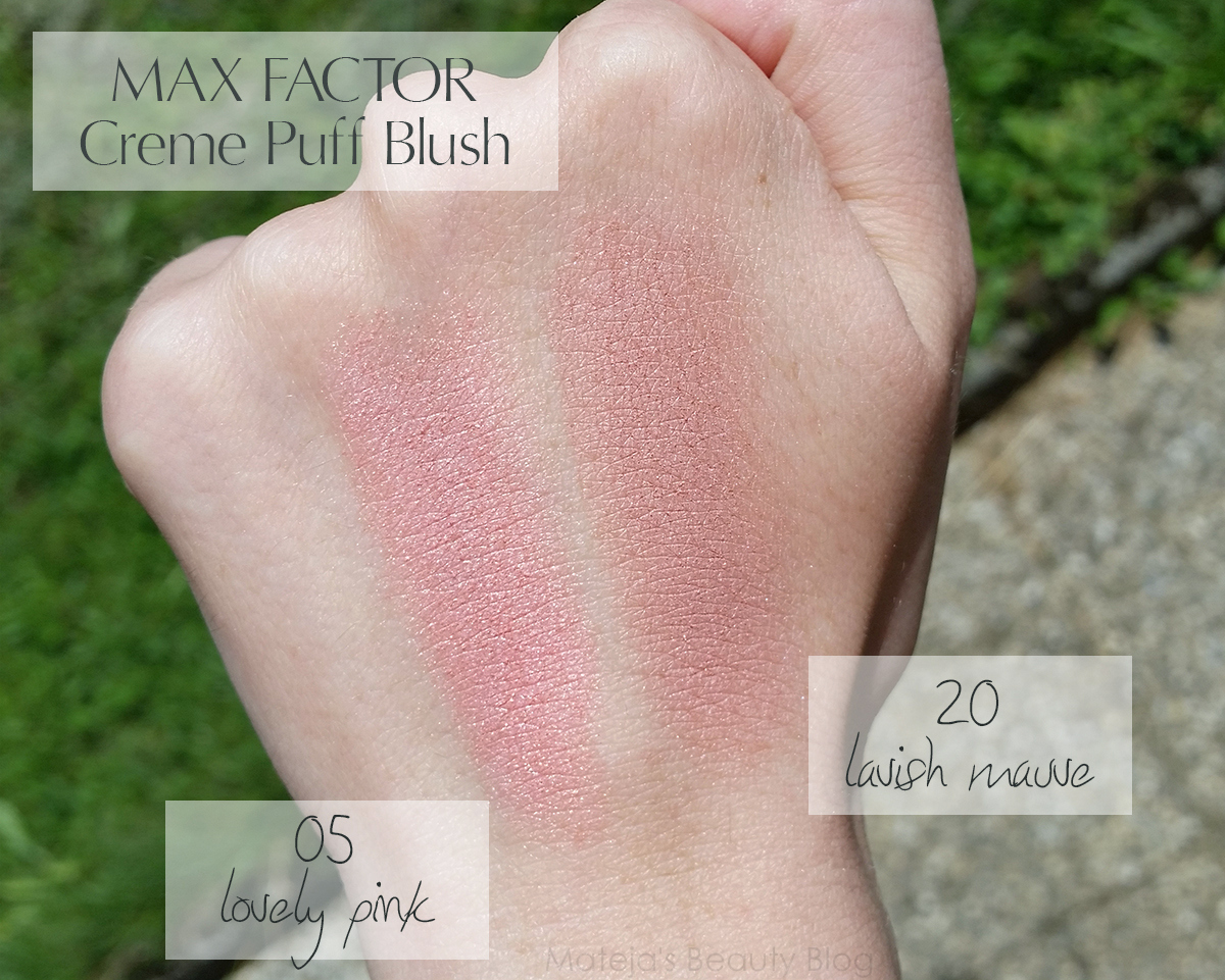 Max Factor Creme Puff Blush 20 Lavish Mauve and 05 Lovely Pink ...