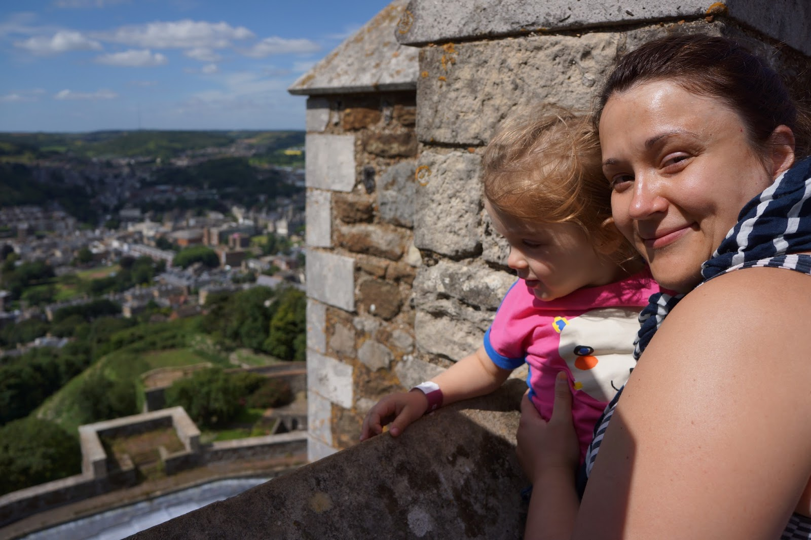 mummy and daughter at dover castle tower