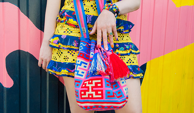 wayuu bag, mama tierra, colourful bag