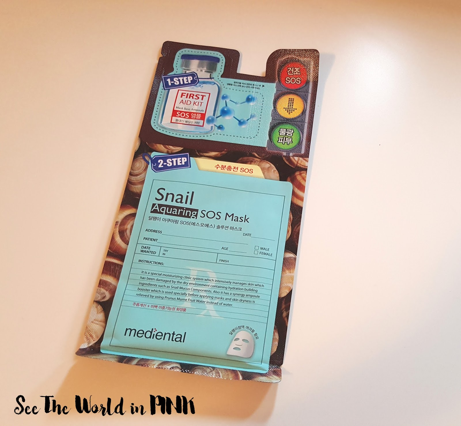 "Beauty Clinic ""Dr. Post"" Mediheal Snail Aquaring SOS Mask"