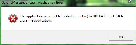 Cara Mengatasi Error 0xc0000043 Messenger Plus PB Garena