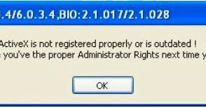 """Resolving """"Required Active X is not registered properly or"""