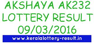 Kerala Lottery result, Akshaya lottery result today, Kerala akshaya ak 232 lottery result, akshaya ak232 looery kerala, todays akshaya lottery result 9-3-2016, Kerala lottery result, Akshaya Lottery result, Akshay AK-232 lottery result, Todays Akshaya Ak232 Lottery result, Kerala lotteries Akshaya AK 232 result, Akshaya ak-232 result, keralalotteries akshaya ak-232