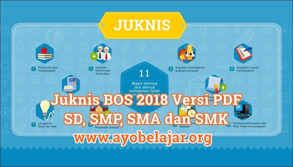 Juknis BOS 2018 Versi PDF SD, SMP, SMA dan SMK