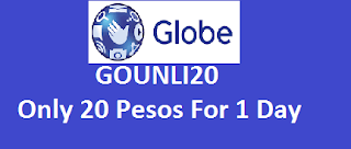 GOUNLI20  Only 20 Pesos For 1 Day