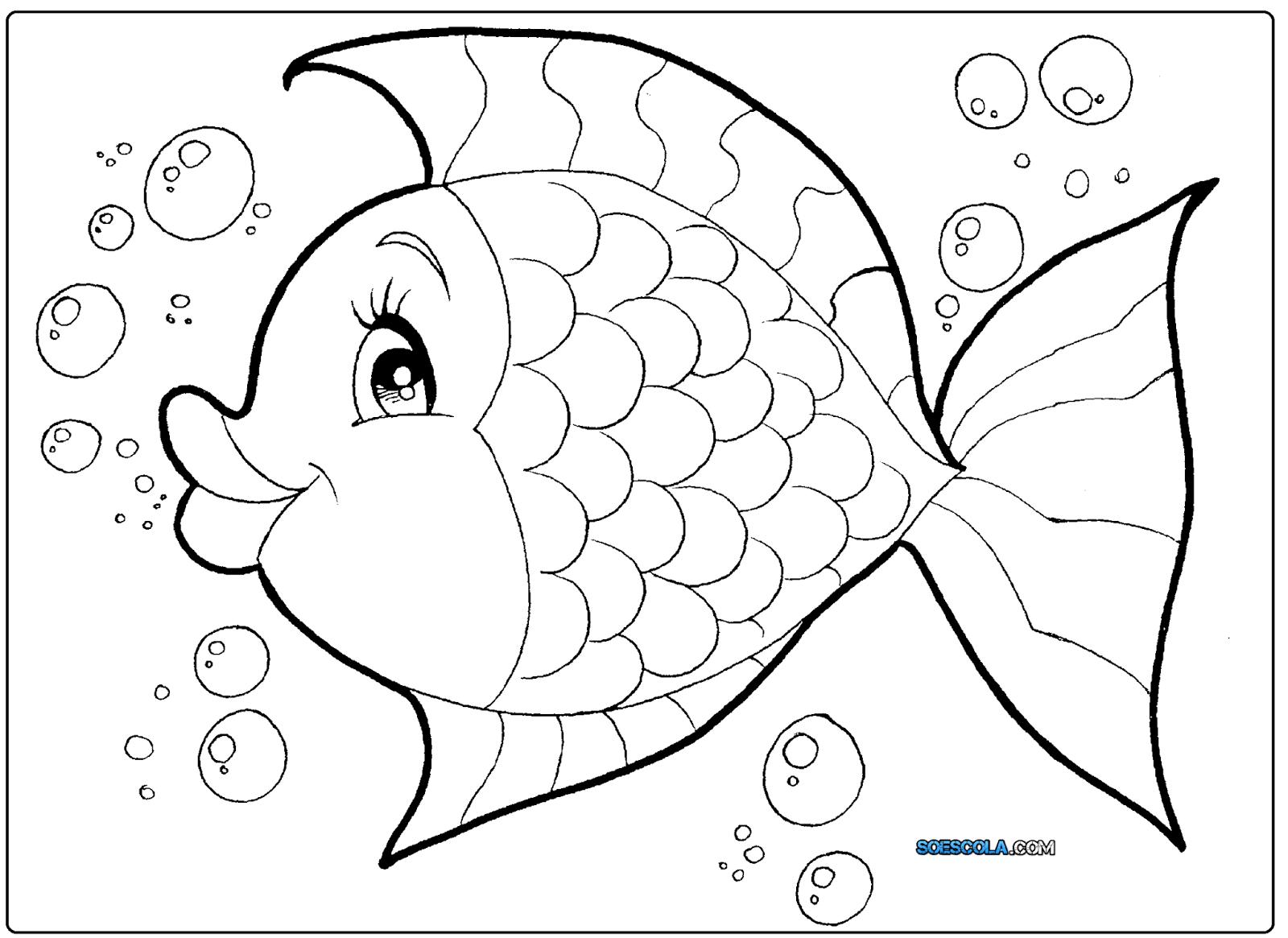 Extremamente 8 Desenhos de Peixes para colorir — SÓ ESCOLA XX56