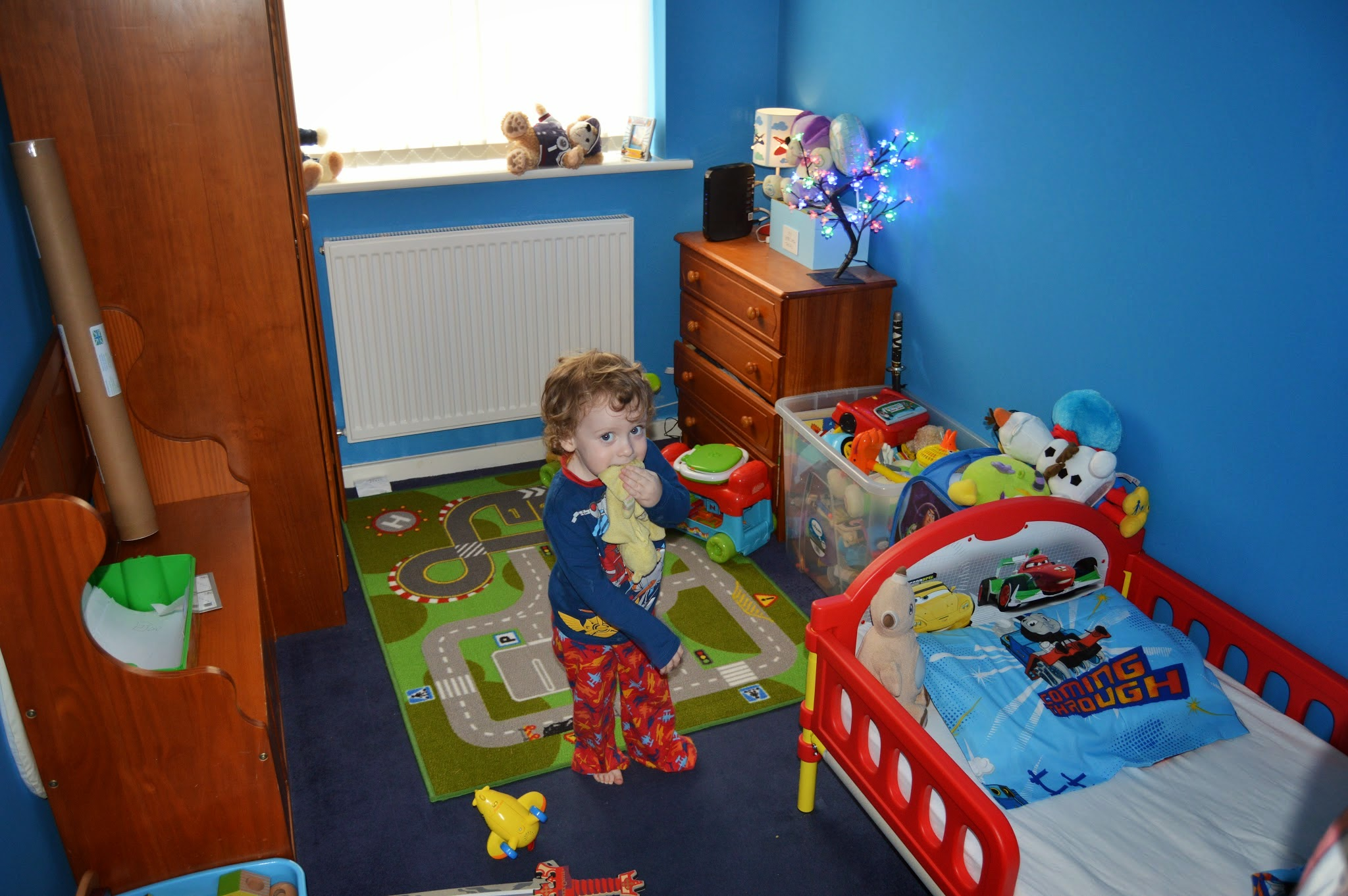 toddler in his bedroom
