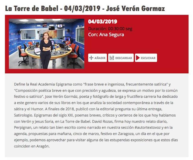 http://www.aragonradio.es/podcast/emision/la-torre-de-babel-04032019-jose-veron-gormaz/