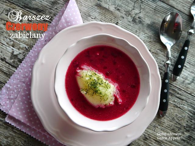 Barszcz czerwony zabielany na zakwasie buraczanym-wegeteriański wg Kuchni Polskiej - Czytaj więcej »