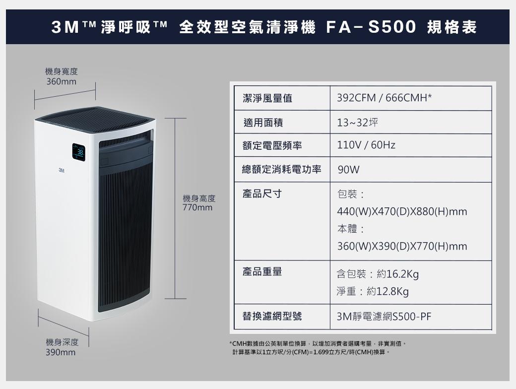i010019_1538987909.jpg-讓空氣跟家一樣令人安心│3M ™淨呼吸™全效型空氣清淨機─機皇級FA-S500